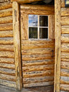 Open Log Door Stock Photo