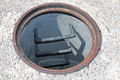 Open manhole without cover Royalty Free Stock Photo
