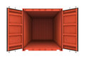 Open Metal Container Isolated ...