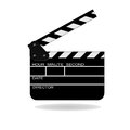 Open movie slate Royalty Free Stock Photo