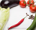 Open note book vegetables for writing recipe Royalty Free Stock Image
