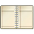 Open notebook with blank page in white background Royalty Free Stock Images