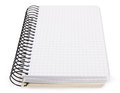 Open notebook isolated white background Stock Photography