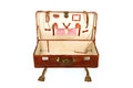 Open old suitcase Royalty Free Stock Images