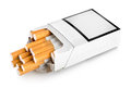 Open pack of cigarettes Royalty Free Stock Images