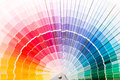 Open pantone sample colors catalogue colour swatches book rainbow Royalty Free Stock Images