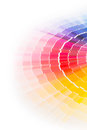 Open pantone sample colors catalogue colour swatches book rainbow Stock Photo