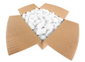 Open parcel Stock Photo