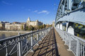 Open passage of a footbridge big moscow russia Royalty Free Stock Photography