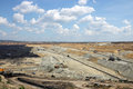 Open pit coal mine Royalty Free Stock Photo