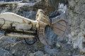 Open pit machinery closeup of the Royalty Free Stock Image