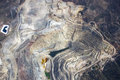 Open pit mining aerial view of an in arizona Stock Image