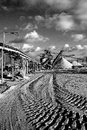 Open pit mining for sand and gravel Royalty Free Stock Photography