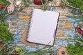 Open recipe book Royalty Free Stock Photo