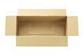 Open rectangular box elevated view of an on white background Stock Photo