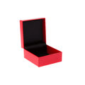Open red gift box isolated on white background Royalty Free Stock Photos