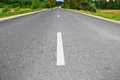 Open road asphalt in field Royalty Free Stock Photography