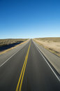 Open road straight to the horizon with motion blur Royalty Free Stock Photos