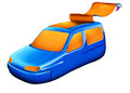 Open roof car isolated illustration of a concept Royalty Free Stock Images
