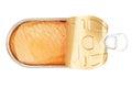 Open salmon tin Royalty Free Stock Photo