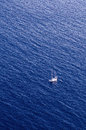 The open sea small yacht drift in Royalty Free Stock Images