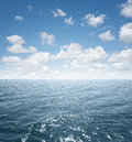 Open sea view of an with copy space Stock Photos