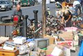 An open second-hand market in Nottinghill, London Royalty Free Stock Photo