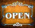 Open sign beautiful at a store Royalty Free Stock Photo