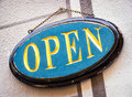 Open sign beautiful at a store Stock Image