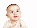 Open smiling baby portrait Royalty Free Stock Photography