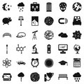 Open space icons set, simple style Royalty Free Stock Photo