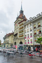 Open street restaurant in Bern switzerland Royalty Free Stock Photo