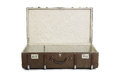 Open suitcase opened retro isolated over a white background Royalty Free Stock Photo