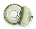 Open tin can, top view vector icon Royalty Free Stock Photo