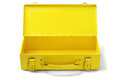 Open tool box empty yellow on white background Stock Images
