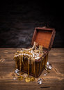 Open treasure chest Royalty Free Stock Photo