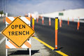 Open Trench' Sign