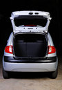 Open trunk of hatchback Royalty Free Stock Photo