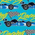 Open wheel racing car seamless pattern Royalty Free Stock Photo