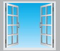 Open window Royalty Free Stock Photo
