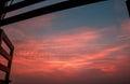 Open Window Dramatic Sky Royalty Free Stock Photo