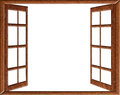 Open window isolation Royalty Free Stock Photo