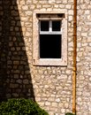 Open window in old building.