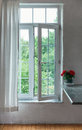 Open window in the room Royalty Free Stock Photo