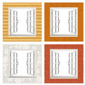 Open window set Royalty Free Stock Photos
