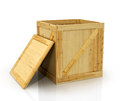 Open wooden box Royalty Free Stock Photo