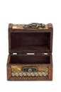 Open wooden chest Royalty Free Stock Photo