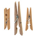 Open wooden clothespin Royalty Free Stock Photos