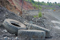 Opencast road on the iron ore Royalty Free Stock Photos