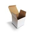 Opened box on white
